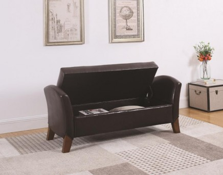 Coaster Classy Dark Brown Accent Bench Available Online in Dallas Fort Worth Texas