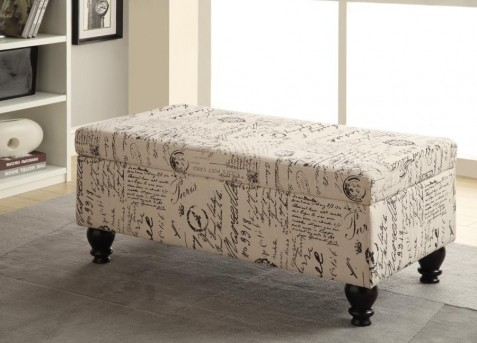 Coaster French Script Storage Bench Available Online in Dallas Fort Worth Texas
