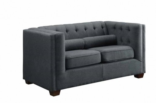 Coaster Cairns Charcoal Loveseat Available Online in Dallas Fort Worth Texas