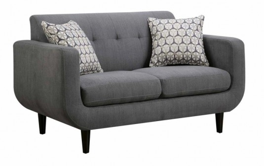 Coaster Stansall Grey Loveseat Available Online in Dallas Fort Worth Texas