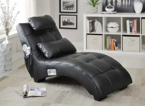 Coaster Bluetooth Black Chaise Available Online in Dallas Fort Worth Texas