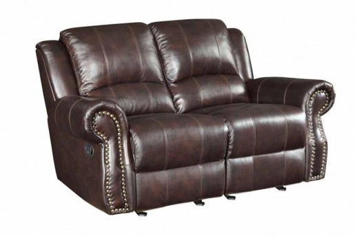 Coaster Sir Rawlinson Leather Glider Reclining Loveseat Available Online in Dallas Fort Worth Texas