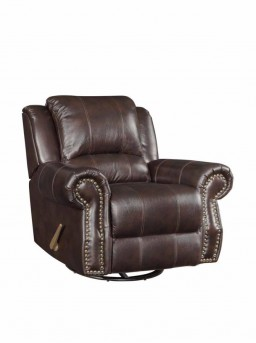 Coaster Sir Rawlinson Leather Swivel/Rocker Recliner Available Online in Dallas Fort Worth Texas