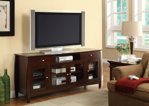 Coaster Brandy Dark Walnut TV Console Available Online in Dallas Fort Worth Texas
