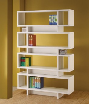 Coaster Brandy White Open Bookcase Available Online in Dallas Fort Worth Texas
