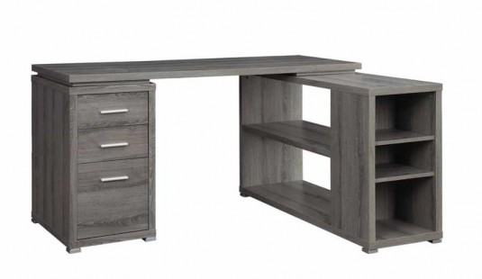 Coaster Yvette Grey L-Shape Desk Available Online in Dallas Fort Worth Texas