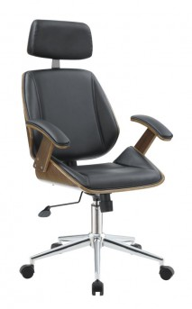 Coaster Office Chairs Black Leatherette Office Chair Available Online in Dallas Fort Worth Texas