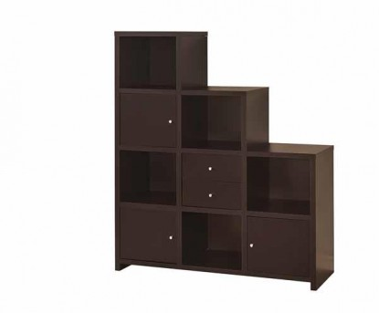 Coaster Stair Step Cappuccino Bookcase Available Online in Dallas Fort Worth Texas
