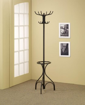 Coaster Elegant Black Coat Rack with Umbrella Stand Available Online in Dallas Fort Worth Texas