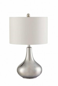 Coaster Chrome Teardrop Table Lamp Available Online in Dallas Fort Worth Texas