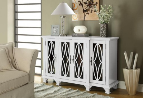 Coaster Vintage Classic White Accent Cabinet Available Online in Dallas Fort Worth Texas