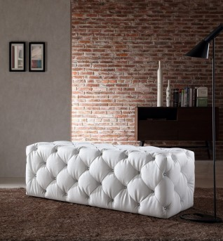 VIG Divani Casa Maria White Crystals Bench Available Online in Dallas Fort Worth Texas