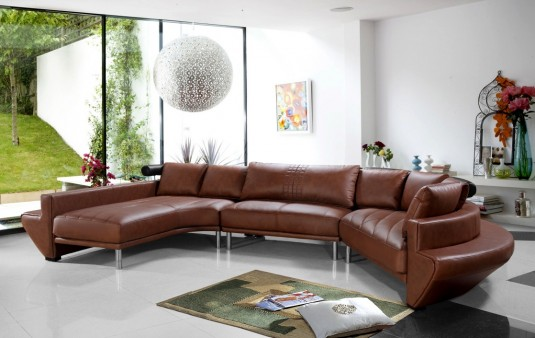 Vig Divani Casa Jupiter Leather Sectional Sofa Available Online In Dallas Fort Worth Texas
