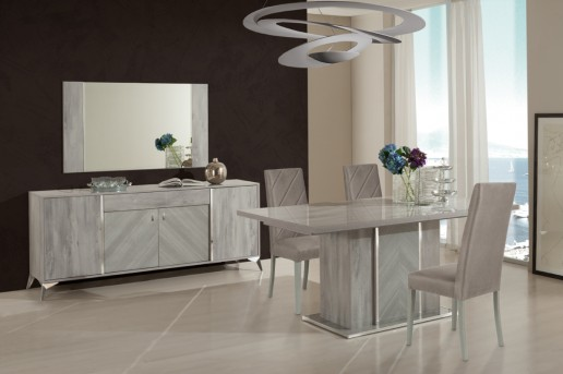 VIG Nova Domus Alexa Grey Dining Table Set Available Online in Dallas Fort Worth Texas