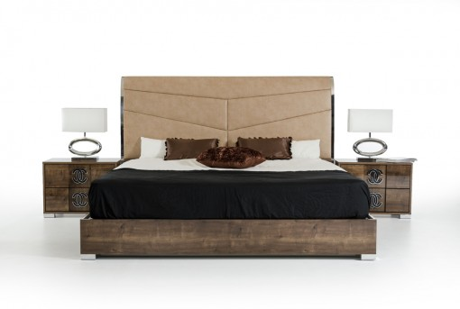 VIG Athen Beige Bed Available Online in Dallas Fort Worth Texas