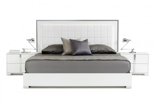 VIG San Marino White Bed Available Online in Dallas Fort Worth Texas