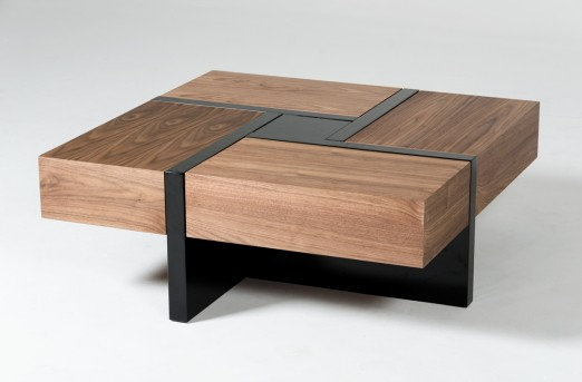 VIG Makai Walnut & Black Coffee Table Available Online in Dallas Fort Worth Texas