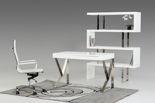 VIG Ferris White Lacquer Office Desk Available Online in Dallas Fort Worth Texas