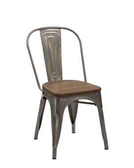 VIG Jethro Steel & Wood Dining Chair Available Online in Dallas Fort Worth Texas