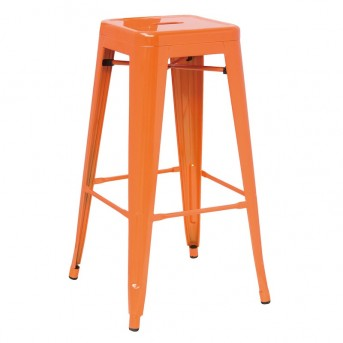 VIG Detroit Orange Metal Barstool Available Online in Dallas Fort Worth Texas