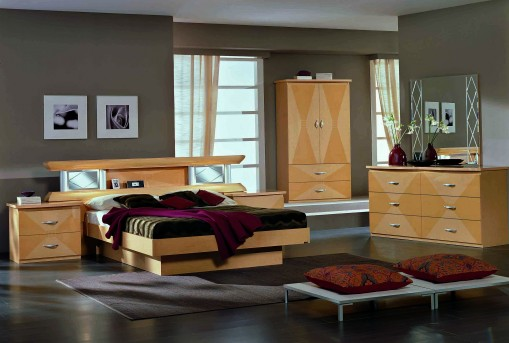 VIG Vera Glass Maple King Bed Available Online in Dallas Fort Worth Texas