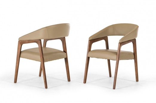 VIG Clive Taupe & Walnut Dining Chair Available Online in Dallas Fort Worth Texas