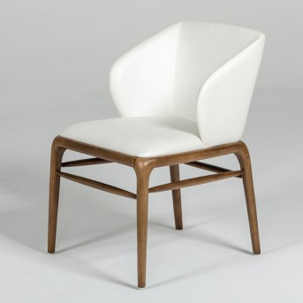 VIG Kipling Cream & Walnut Dining Chair Available Online in Dallas Fort Worth Texas