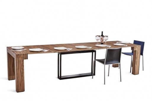 VIG Versus Doris Walnut Extendable Dining Table Available Online in Dallas Fort Worth Texas