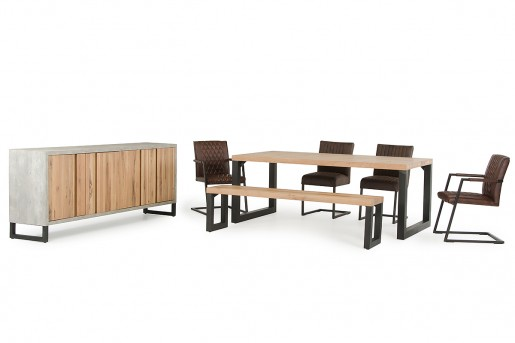 VIG Reese 6pc Aged Oak Dining Set Available Online in Dallas Fort Worth Texas