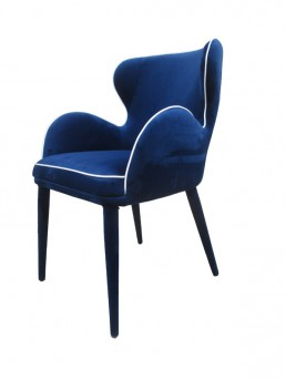 VIG Tigard Blue Fabric Dining Chair Available Online in Dallas Fort Worth Texas