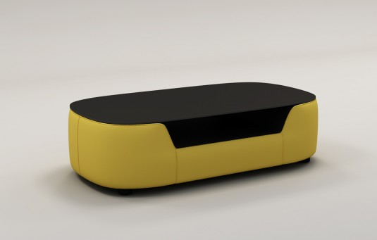Vig Divani Casa Yellow Bonded Leather Coffee Table Available Online In Dallas Fort Worth Texas