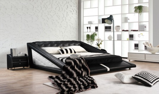VIG Modrest J231 Black & White Bonded Leather Bed Available Online in Dallas Fort Worth Texas