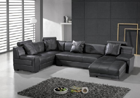 VIG St Petersburg Black Sectional Sofa Available Online in Dallas Fort Worth Texas