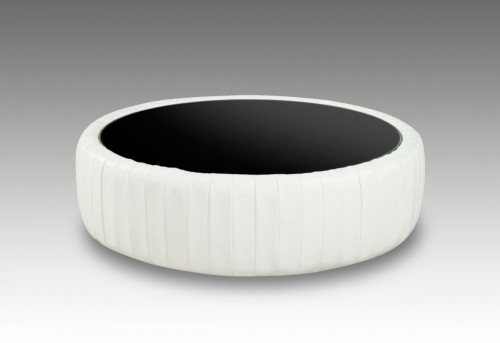 VIG Divani Casa White Bonded Leather Round Coffee Table Available Online in Dallas Fort Worth Texas