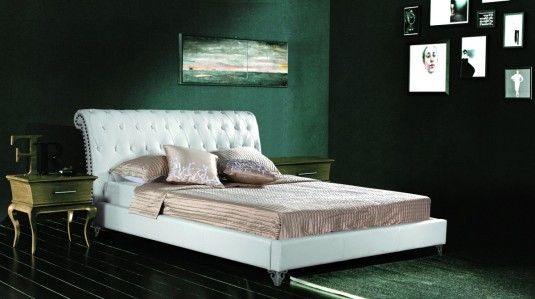 VIG Modrest 392 White Eco-leather Bed Available Online in Dallas Fort Worth Texas
