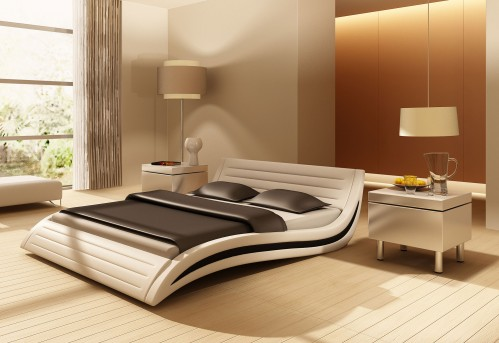 VIG Apollo White Eco-leather Bed Available Online in Dallas Fort Worth Texas
