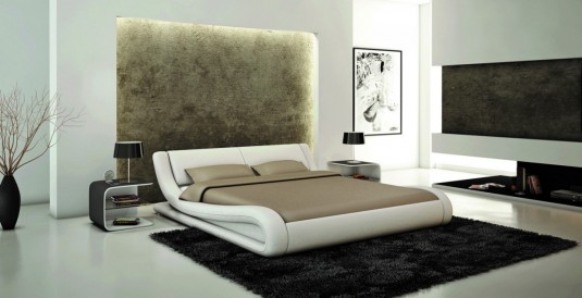 VIG Modrest J214 White Eco-leather Bed Available Online in Dallas Fort Worth Texas