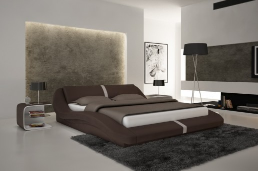 VIG Samaba Brown Eco-leather Bed Available Online in Dallas Fort Worth Texas