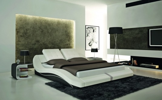 VIG Modrest S608 White Eco-leather Bed Available Online in Dallas Fort Worth Texas