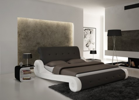 VIG Modrest S610 Black & White Eco-leather Bed Available Online in Dallas Fort Worth Texas