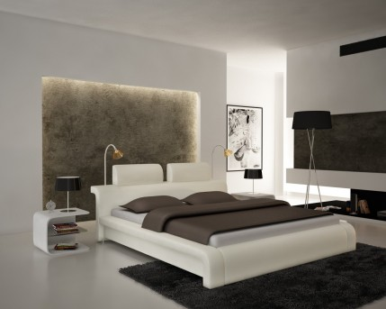 VIG Modrest S611 White Eco-leather Bed Available Online in Dallas Fort Worth Texas