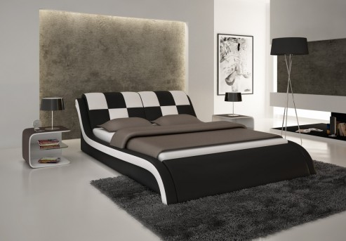 VIG Modrest S613 Black & White Eco-leather Bed Available Online in Dallas Fort Worth Texas