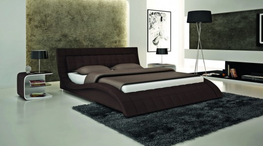 VIG Modrest S614 Brown Eco-leather Bed Available Online in Dallas Fort Worth Texas