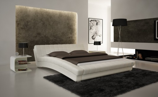 VIG Modrest S616 White Eco-leather Bed Available Online in Dallas Fort Worth Texas