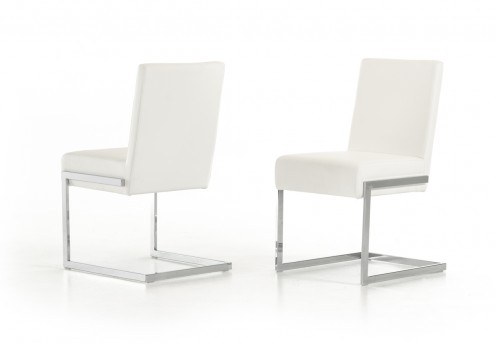 VIG Batavia White Leatherette Dining Chair Available Online in Dallas Fort Worth Texas