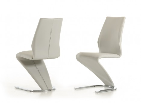 VIG Penn Light Grey Leatherette Dining Chair Available Online in Dallas Fort Worth Texas