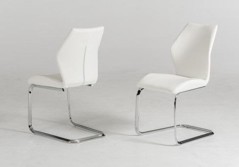 VIG Welles White Leatherette Dining Chair Available Online in Dallas Fort Worth Texas