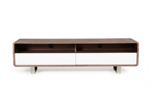 VIG Avis Walnut & White TV Stand Available Online in Dallas Fort Worth Texas