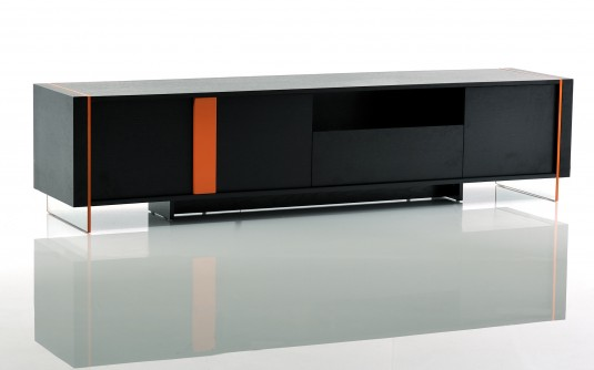 VIG Vision Black Oak Floating TV Stand Available Online in Dallas Fort Worth Texas