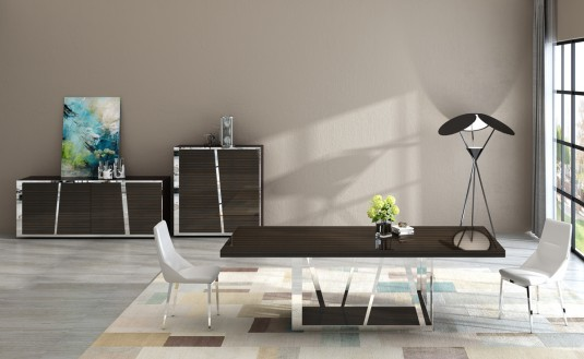 VIG Sherman Ebony Dining Table Available Online in Dallas Fort Worth Texas